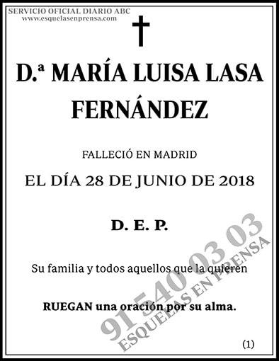 María Luisa Lasa Fernández